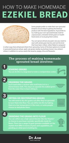 Ezekiel bread is a type of sprouted grain bread that is prepared using traditional methods of soaking, sprouting and baking that have been in existence for thousands of years. Clean Recipes, Whole Food Recipes, Healthy Recipes, Healthy Foods, Healthy Dinners, Ezekiel Bread Benefits, Ezekial Bread, How To Make Sprouts, Vegan Recipes