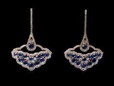 Drops of ocean. Oorbellen. Earrings #Oorbellen #Earrings #Juwelen #Jewelry #LillyZeligman.com www.lillyzeligman.com