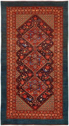 Khamseh rug 44594  Width	30 inches Length	55 inches