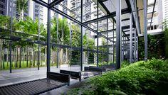E & O Residences Kuala Lumpur,No. Jalan Tengah off Jalan Sultan Ismail, 50450 Kuala Lumpur Landscape Architecture, Landscape Design, Urban Landscape, Hotel World, Spa Interior, Interior Design, Green Facade, Restaurants, Internal Courtyard