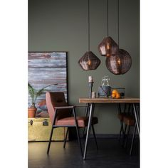 Dutchbone Cooper Hanglamp Copper - Found this lamp on VtWonen and I fell in love with it instantly. Would be great to have two of these and hang them above the diner table.