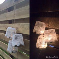 Geen kaarsenhouder maar lampenkamp. Sfeervol voor inde tuin. | by Luchien Wolthuis | DIY met spullen van de Action | bespaarmama.nl