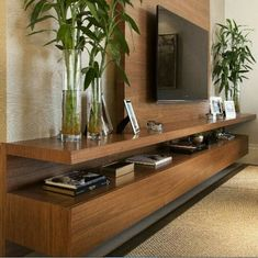 47 amazing ideas and designs for DIY entertainment centers for your new home . - 47 amazing ideas and designs for DIY entertainment centers for your new home - Room Interior, Home Interior Design, Interior Livingroom, Home Living Room, Living Room Decor, Bedroom Decor, Tv Wall Cabinets, Modern Tv Wall Units, Tv Console Modern