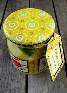 Tutorial for Making Covered Lids - another cute idea for food gifts