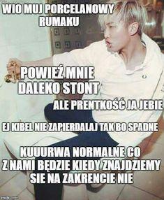 Widać po tytule co to będzie więc po co opis Asian Meme, Polish Memes, K Meme, Reasons To Smile, Kpop, Namjin, Best Memes, I Laughed, Jokes
