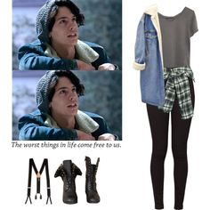 A fashion look from March 2017 featuring Ragdoll t-shirts, American Apparel jeans and Faith Connexion mini skirts. Browse and shop related looks. Tv Show Outfits, Fandom Outfits, Teen Fashion Outfits, Outfits For Teens, Girl Outfits, Fashion Goth, Riverdale Halloween Costumes, American Apparel Style, Swag Outfits