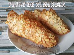 Finalizamos la semana con estas TEJAS DE ALMENDRA, uno de esos dulces que cuando lo pruebas, no puedes para de comer....