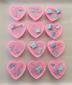 These heart shaped wax melts were made using our cotton candy and lemon lime soda fragrance oils. These were made by Brittany of: http://knickknaxwax.bigcartel.com/