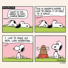 """""""Supper time for Snoopy! Snoopy Cartoon, Snoopy Comics, Peanuts Cartoon, Peanuts Snoopy, Peanuts Comics, Schulz Peanuts, Snoopy Love, Snoopy And Woodstock, Funny Cartoons"""