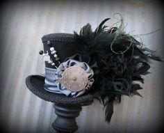 Steampunk Mini Top Hat Alice in Wonderland Mini Top by ChikiBird
