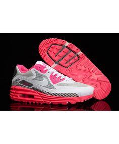 Nike Air Max Lunar90 Bright Pink Medium Grey White Sale