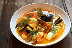 Bouillabaisse is probably the most famous dish from Marseilles. Despite what its haute cuisine versions might imply, bouillabaisse is a humble fisherman's stew.