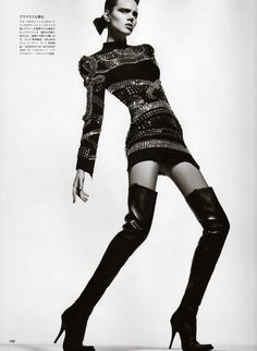 Editorial - Balmain dress
