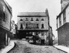 The Three Pigeons, Charing Cross, Norwich before it was demolished to make way for tram network. It was rebuilt on the otherside of the road and named The Hog in Armour.