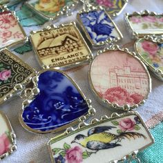 Finishing up new broken China jewelry, just finished polishing... #BrokenChinaJewelry #BrokenChina #LauraBethLove #Antique #AntiqueChina #JewelryDesigner #ArtJewelry #UpCycled #Recycled #ecofriendly #ecofriendlyjewelry #ecofriendlyproducts #flowblue #transferware #bcj #johnsonbros #oldbritaincastles #castle #cottage