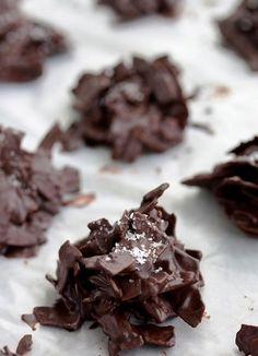 Salted Chocolate Coconut Stacks, vegan dark chocolate
