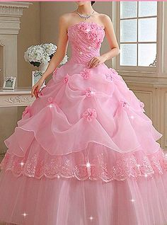 Pretty Quinceanera Dresses, Prom Dresses 2016, Pink Prom Dresses, Ball Gown Dresses, Pretty Dresses, Beautiful Dresses, Baby Girl Party Dresses, Quince Dresses, Latest African Fashion Dresses