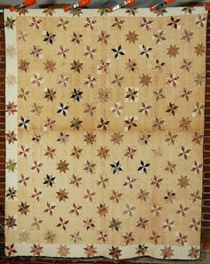 PRE CIVIL WAR Vintage Small Scale Stars Antique Quilt Very Early Fabrics Old Quilts, Antique Quilts, Star Quilts, Vintage Quilts, Quilt Blocks, Civil War Quilts, Primitive Antiques, Traditional Quilts, Quilting Designs