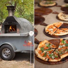 Don't Forget About Food Carts: These days, food carts aren't just for popsicles and hot dogs; you can even serve up gourmet, fire-baked pizzas! Photo by Summer & Boyd via Style Me Pretty