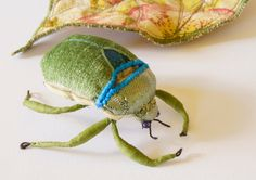 Fiber Art Mystical Scarab Beetle Soft Sculpture Ancient Egypt Entomology Natural History Woodland Animal Nature Lover Luxury Gift by BlueTerracotta on Etsy