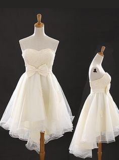 2015 Elegant A-line Sweetheart High-low Tulle Bowknot Homecoming Dress TUHD-7326