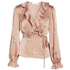 Look up a reasonable & extremely versatile assortment of feminine girls' blouses. Peplum Shirts, Peplum Tops, Peplum Blouse, Long Blouse, Blouse Styles, Blouse Designs, Long Sleeve Peplum Top, Wrap Blouse, Pink Satin