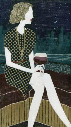 Woman with Wine - Leeay Aikawa