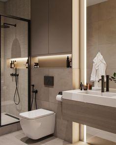 Modern Luxury Bathroom, Bathroom Design Luxury, Simple Bathroom Designs, Modern Bathroom Design, Modern Toilet Design, Washroom Design, Washroom Tiles, Bedroom False Ceiling Design, Bathroom Design Inspiration