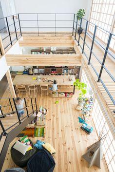 全体が見渡せる格子の家|ハウスデザインズ|東海のデザイン住宅|リビング