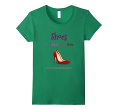 Women's Shoes My First True Love T-Shirt Stilettos Red High Heels Large Kelly Green -- Awesome products selected by Anna Churchill