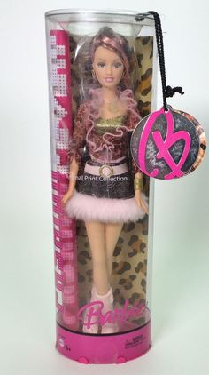 2005 FASHION FEVER BARBIE DREW ANIMAL PRINT COLLECTION NRFB #Mattel #Dolls this was my all time favorite she looks just like me
