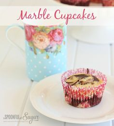 Marble Cupcakes - A Spoonful of Sugar