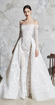57 Stunning Wedding Dresses With Detachable Skirts - Zuhair Murad Wedding Dress. - 57 Stunning Wedding Dresses With Detachable Skirts – Zuhair Murad Wedding Dress – Spring 2020 - Beaded Wedding Gowns, Couture Wedding Gowns, Wedding Dress Chiffon, Stunning Wedding Dresses, Luxury Wedding Dress, Perfect Wedding Dress, Best Wedding Dresses, Designer Wedding Dresses, Bridal Dresses
