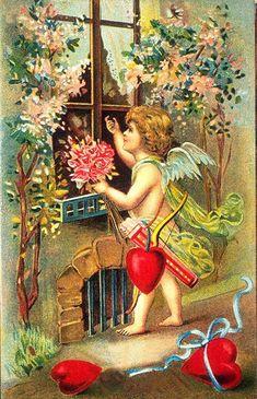 старинные открытки с днем святого валентина