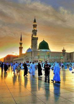 Evening view of the beautiful Al Masjid AlNabwi - #Medina, #Saudi Arabia