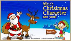 Which Christmas character are you? - Play the #personalityquiz. Answer ten simple questions to find out which Christmas character are you. Share it with your friends! For more interacting #quizforkids, visit: http://mocomi.com/fun/games/