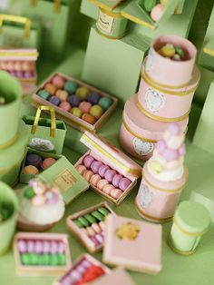 Oh my goodness! Laduree for a dollhouse!  Love it!