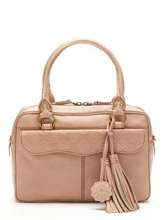 Spring Daisy Top Zip Satchel by Isabella Fiore