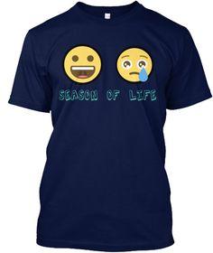 Season Of Life Navy T-Shirt Front