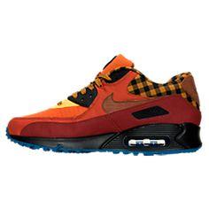 Men's Nike Air Max 90 Premium Running Shoes   Finish Line