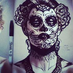 skull face | Tumblr