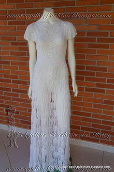Agulhas Fashion da Patty: Vestido de noiva em croche
