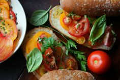 Tomato Salad on a Roll by David Tanis