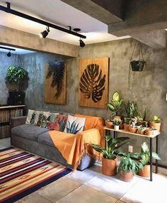 Small Living Rooms, Cozy Living, Home Living Room, House Plants Decor, Deco Design, Rustic Decor, Rustic Design, Diy Home Decor, Sweet Home