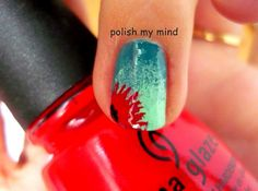 I love this gradient and with the added red.. Fantastic xx