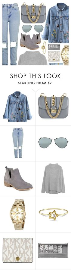 """Denims"" by jomashop ❤ liked on Polyvore featuring Topshop, Ray-Ban, Journee Collection, Vince, Marc by Marc Jacobs, Boohoo, Estée Lauder, casual, gold and denim"