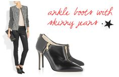 How to properly wear ankle boots with skinny jeans