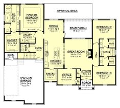 Country Floor Plan - Main Floor Plan Plan #430-167