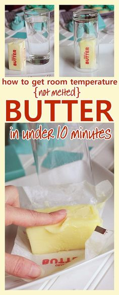 Love this Baking Hack! How to get perfectly softened room temperature butter quickly - from fridge to soft and ready to bake with QUICKLY - in under 10 minutes - awesome time saving baking hack! Cooking Tips, Cooking Recipes, Cooking Quotes, Cooking Pasta, Girl Cooking, Fun Cooking, Cooking Classes, Brunch, Cookies Et Biscuits