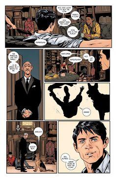 "wonderstrevors: ""Jason Todd vs Ace in Batman "" Where did ace come from isn't it titus >> ace is bruce's dog that alfred got him for christmas, titus is damian's that bruce got him so he'd stop being a loner Bale Batman, Im Batman, Batman Robin, Robin Superhero, Funny Batman, Batman Cartoon, Gotham Batman, Batman Logo, Marvel Dc Comics"
